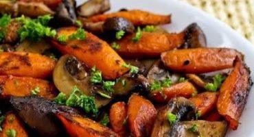 آموزش خوراک قارچ و هویج بخارپز