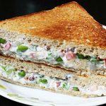روش تهیه ساندویچ سبزیجات با سس مایونز