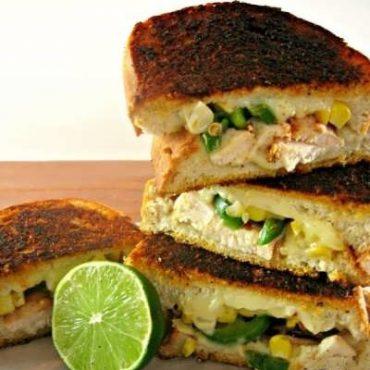 دستور ساندویچ مرغ مکزیکی
